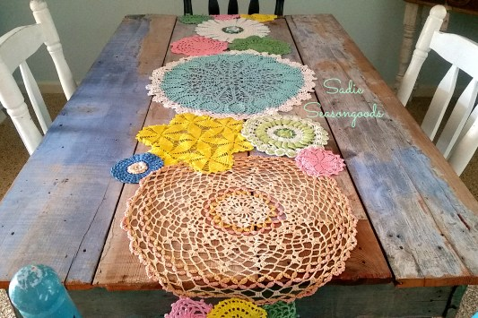 8_Dyed_vintage_doily_table_runner_DIY_for_Spring_from_Sadie_Seasongoods