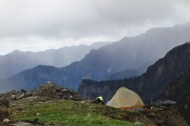 Camping in the rain, India 2013.