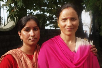 Two lovely ladies I lived with for two weeks in rural India, 2013.