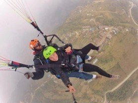Paragliding with a friend, Nepal 2013.