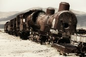 A broken down train, Bolivia 2011.