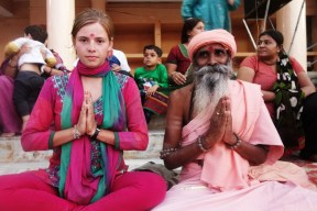A babaji and I in India, 2013.