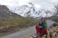 Awkward selfie mountain photo shoot.