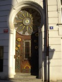 Door and a clock