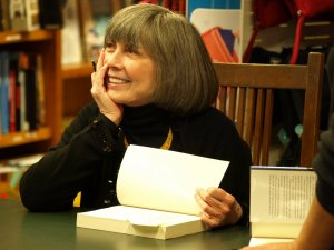 Anne Rice at a book signing.