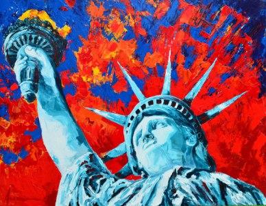 Lady Liberty 22 x 28