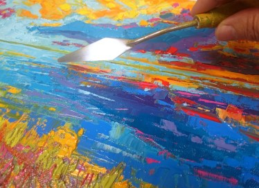 Working with palette Knife