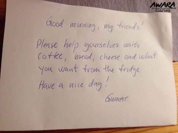 Gunnar's note