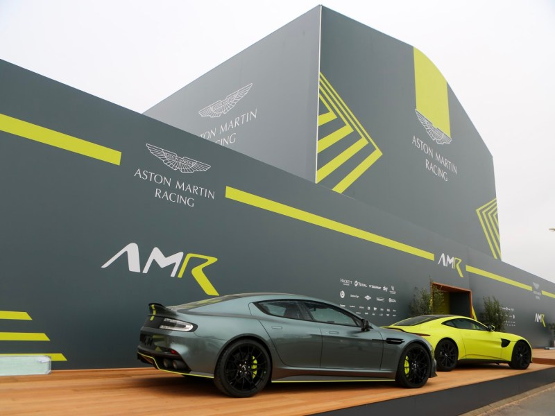 Aston Martin VIP tent