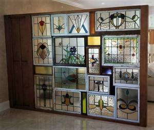 Room dividers - Stained Glass Wall