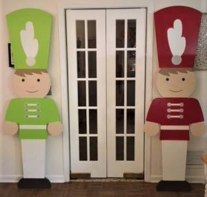 Toy soldier decorations in doors.