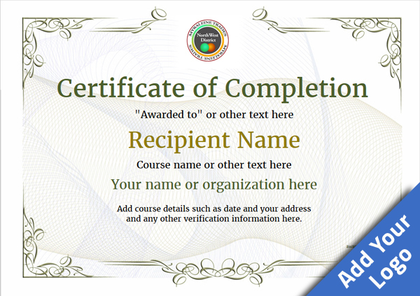 Certificate of Completion - Free Quality Printable ...