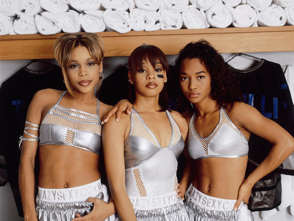 TLC back in the day; left to right: T-Boz, Left Eye and Chili