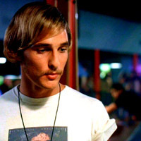 McConaughey, perfecting the movie stoner, in Dazed and Confused
