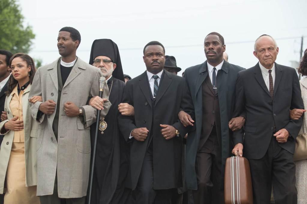 Selma earns seven nominations from the Georgia Film Critics Association, including David Oyelowo (above, center)