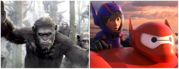 Dawn of the Planet of the Apes and Big Hero 6