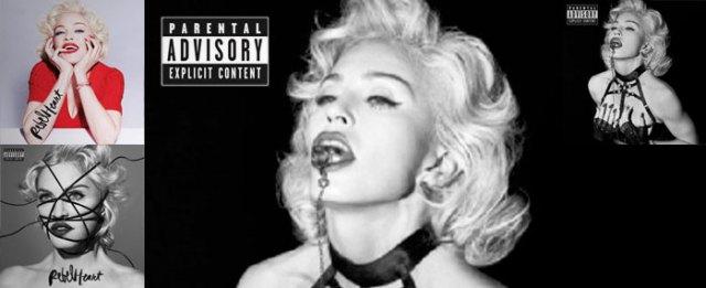 Rebel Heart, in all of its versions, Madonna's 13th studio album (photo credit: madonnatribe.com)