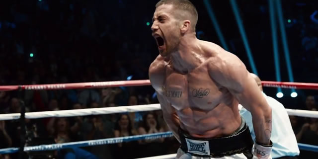 Jake Gyllenhaal in Southpaw --photo credit: The Weinstein Company--