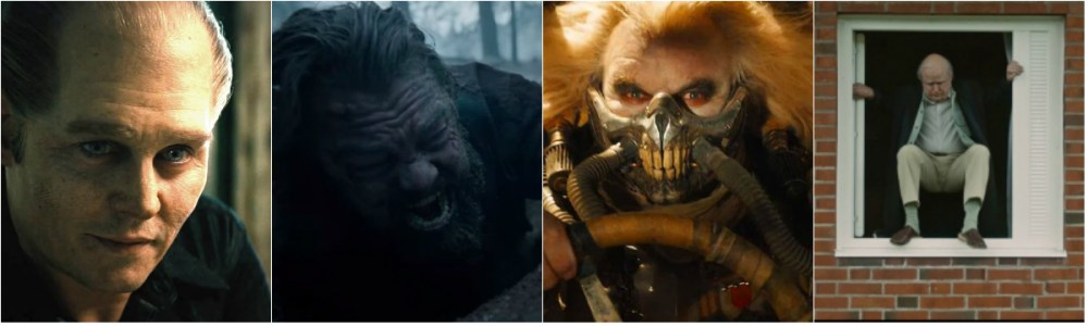 Black Mass, The Revenant, Mad Max: Fury Road and The 100-Year-Old Man Who Climbed out the Window and Disappeared Advance for Makeup & Hairstyling Oscar