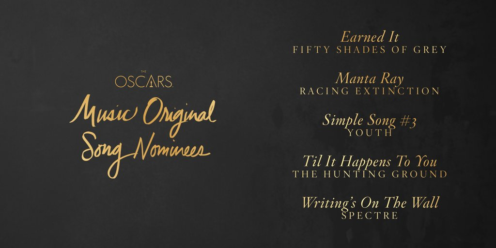 2016 Oscar Predictions: Original Song – Lady Gaga/Diane Warren