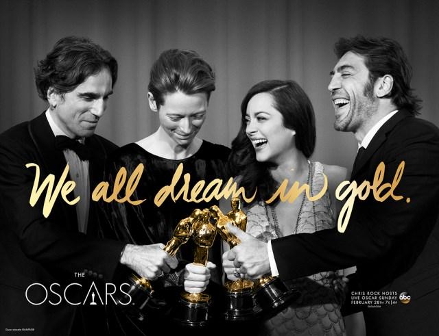 2016-oscars-we-all-dream-in-gold-daniel-day-lewis-tilda-swinton-marion-cotillard-javier-bardem