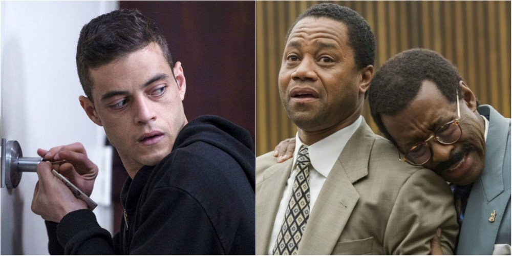 From left; Rami Malek and Mr. Robot, The People vs. O.J. Simpson hit big with the TCA