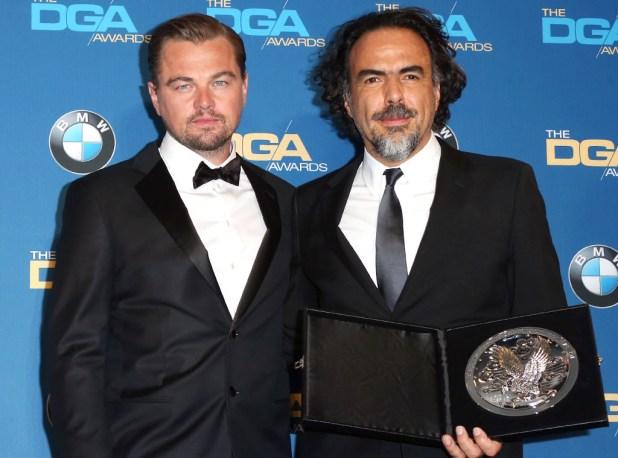 Leonardo DiCaprio and 2016 DGA winner Alejandro G. Iñárritu (The Revenant)