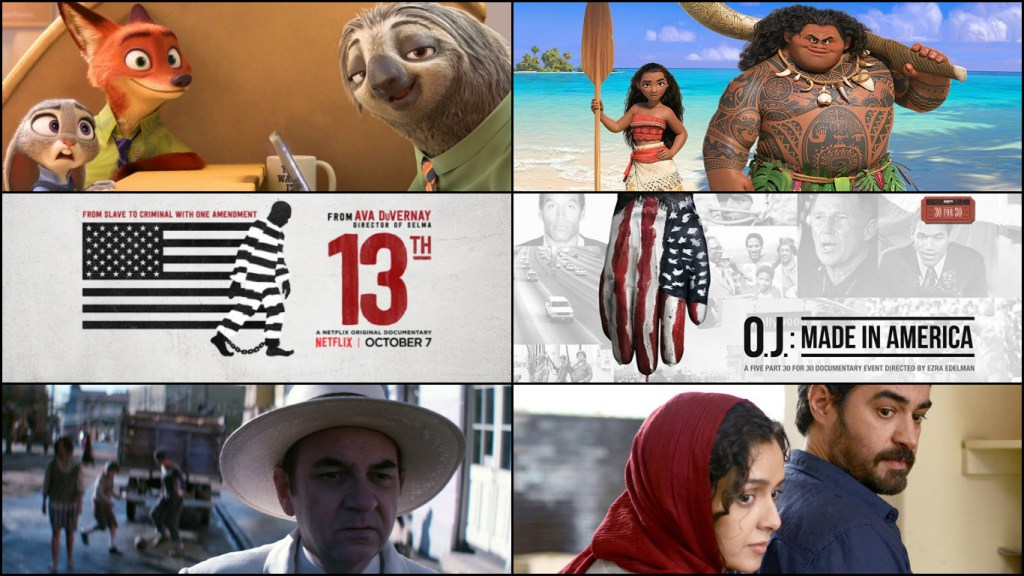2017-oscar-predictions-animated-documentary-foreign-language-october-zootopia-moana-13th-oj-made-in-america-neruda-the-salesman