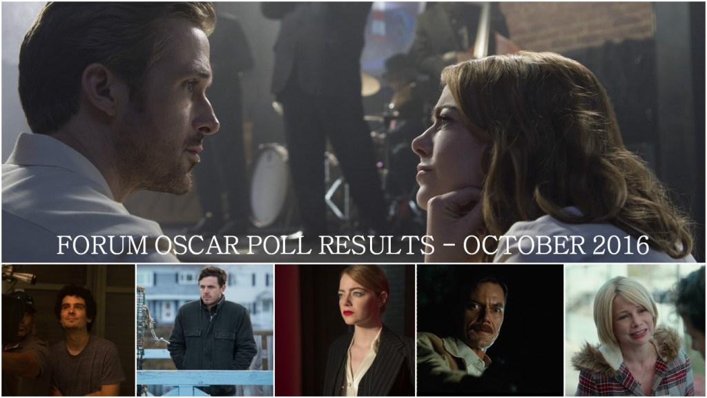 2017-oscar-predictions-forum-polls-october-la-la-land-damien-chazelle-casey-affleck-emma-stone-michael-shannon-michelle-williams