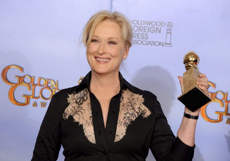 Meryl Streep, the 2017 recipient of the Cecil B. deMille Award from the Golden Globes