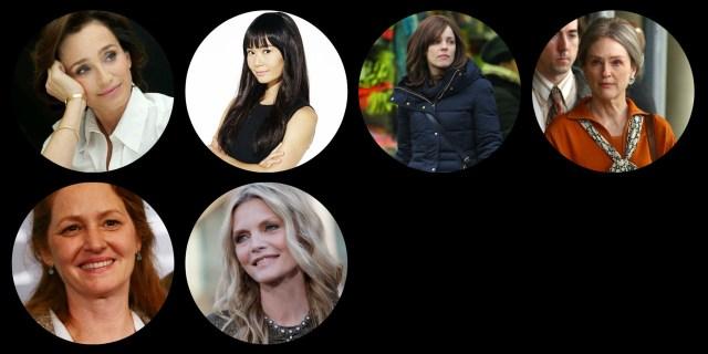 Top: Kristin Scott Thomas, Hong Chau, Rachel McAdams, Julianne Moore Bottom: Melissa Leo, Michelle Pfeiffer