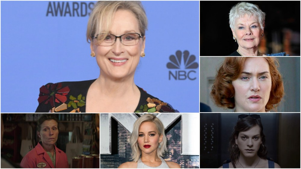 Meryl Streep is tops; Judi Dench, Kate Winslet, Frances McDormand, Jennifer Lawrence and Daniela Vega are in the mix