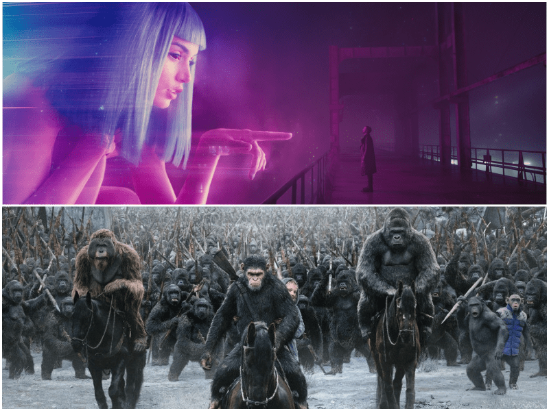 To No Ones Surprise Two Blockbuster Visual Effects Films Led The Way At Today Visual Effects Society Ves Nominations Blade Runner 2049 And War For The
