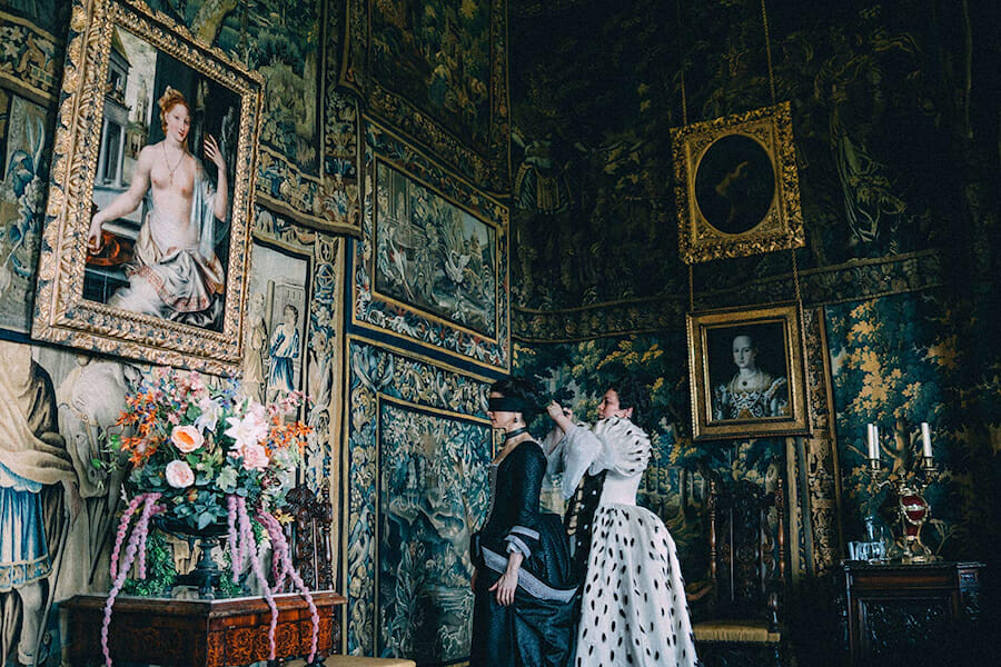 the favourite costumes production design