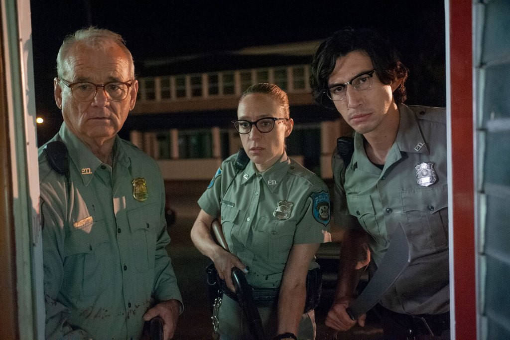 Bill Murray, Chloë Sevigny and Adam Driver in The Dead Don't Die