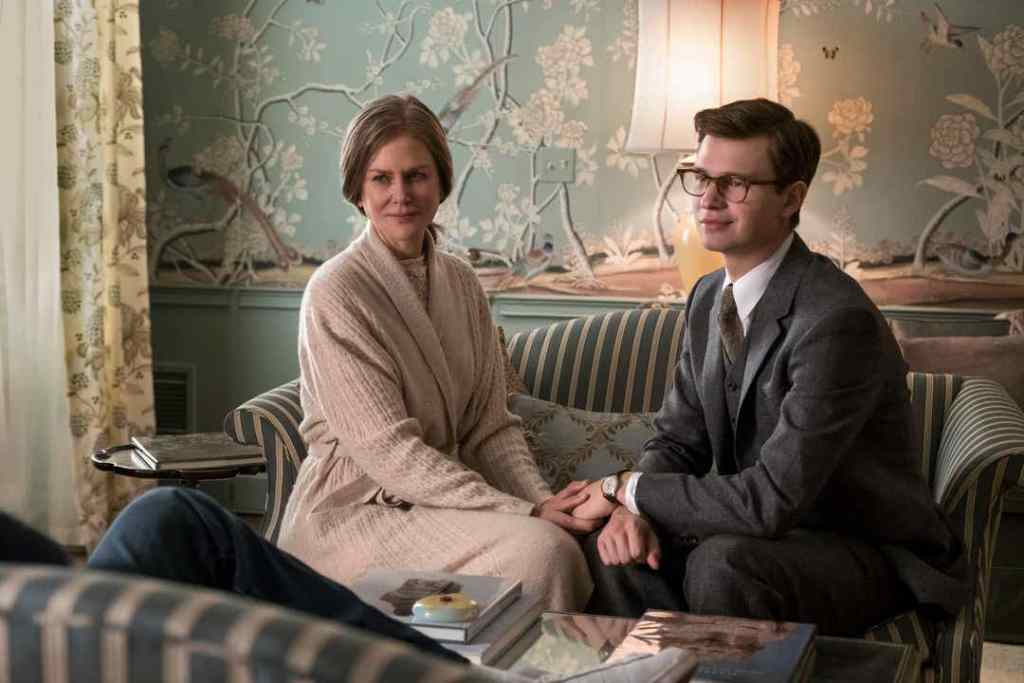 "Mrs. Barbour (Nicole KIdman) is still a surrogate mom to Theo (Ansel Elgort), even years after his mother is killed in ""The Goldfinch."" (Photo: MACALL POLAY)"