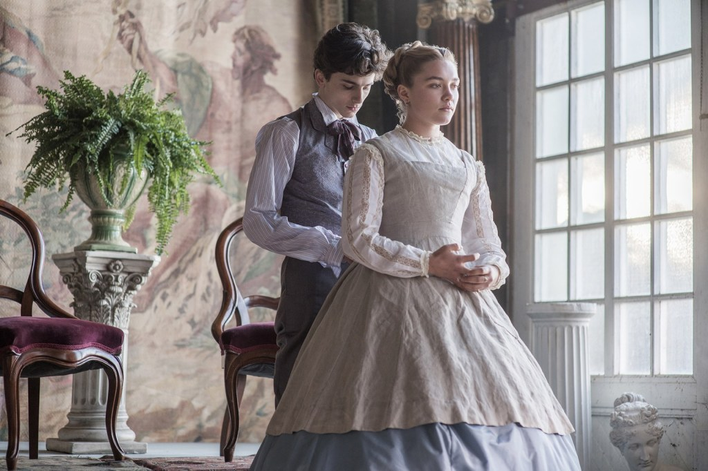 Timothée Chalamet and Florence Pugh in LITTLE WOMEN (Sony/Columbia)