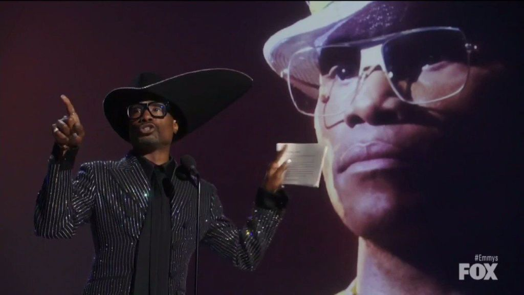 """Lead Actor in a Drama Series winner Billy Porter (POSE) - """"Please don't ever stop telling the truth. I love you all."""""""
