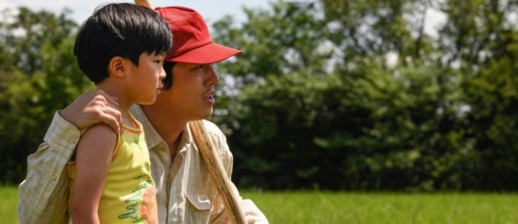 Alan Kim and Steven Yeun in MINARI (Courtesy Sundance Institute)