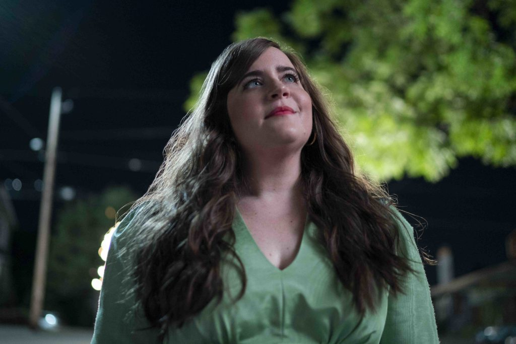 "SHRILL -- ""HR"" - Episode 208 - Annie finally deals with the parts of her life that still challenge herÑRyan and her mom. Fran realizes she doesnÕt need to be dependent on relationships, she just needs to celebrate herself. Annie (Aidy Bryant), shown. (Photo by: Allyson Riggs/Hulu)"