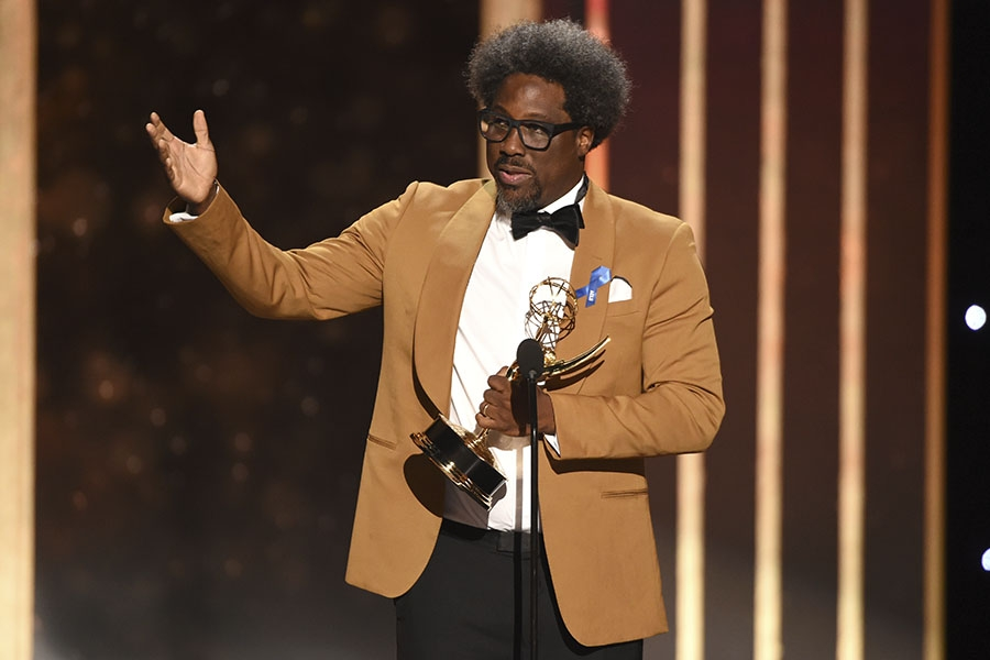 W. Kamau Bell accepts the award for Unstructured Reality Series at the 2019 Creative Arts Emmys (Invision/AP)