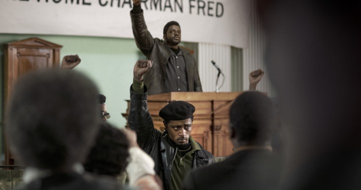 (Center front-back) LaKEITH STANFIELD as William O'Neal and DANIEL KALUUYA as Chairman Fred Hampton in Warner Bros. Pictures' JUDAS AND THE BLACK MESSIAH (courtesy of Warner Bros Entertainment)