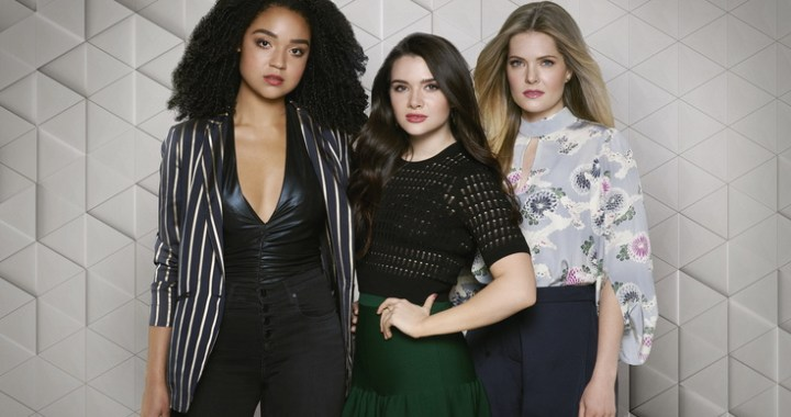 "THE BOLD TYPE - Freeform's ""The Bold Type"" stars Aisha Dee as Kat Edison, Katie Stevens as Jane Sloan, and Meghann Fahy as Sutton Brady. (Freeform/Ed Herrera)"