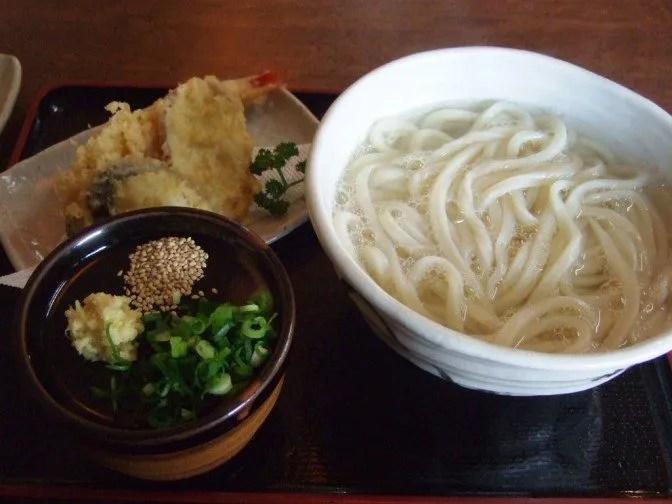 天ぷら湯だめうどん