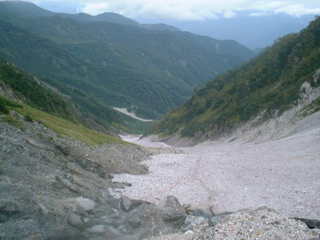 大雪渓の一番上