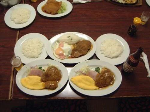 (過去)ランチ3種類を一度に食べた時の写真