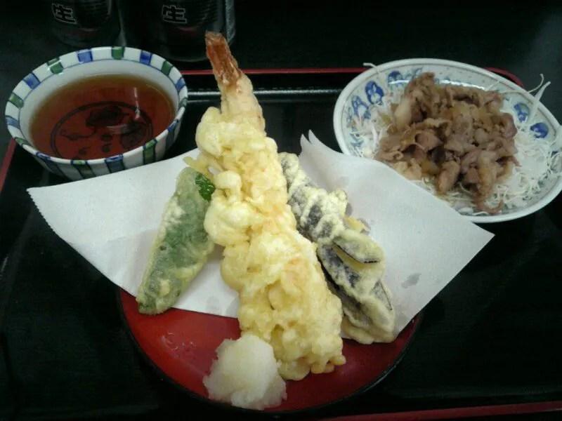 天ぷらと、肉