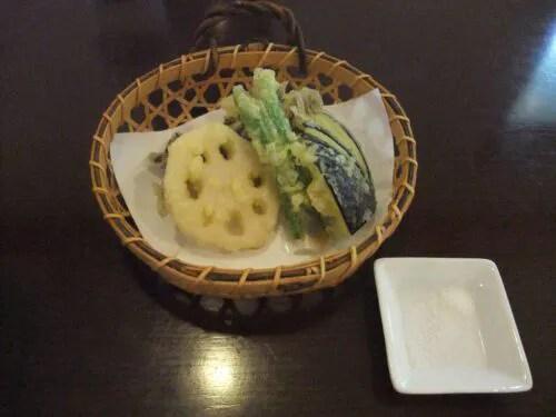 旬の天ぷら三種盛り