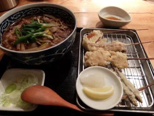 串天と夜鳴き蕎麦