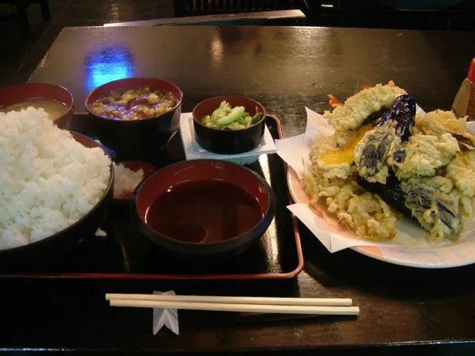 天ぷら定食大盛